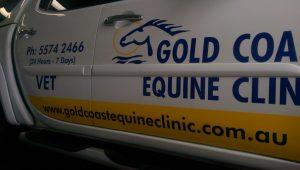 Gold Coast Equine vehicle signage