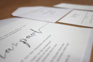 Letterpress Wedding Invitation Printing